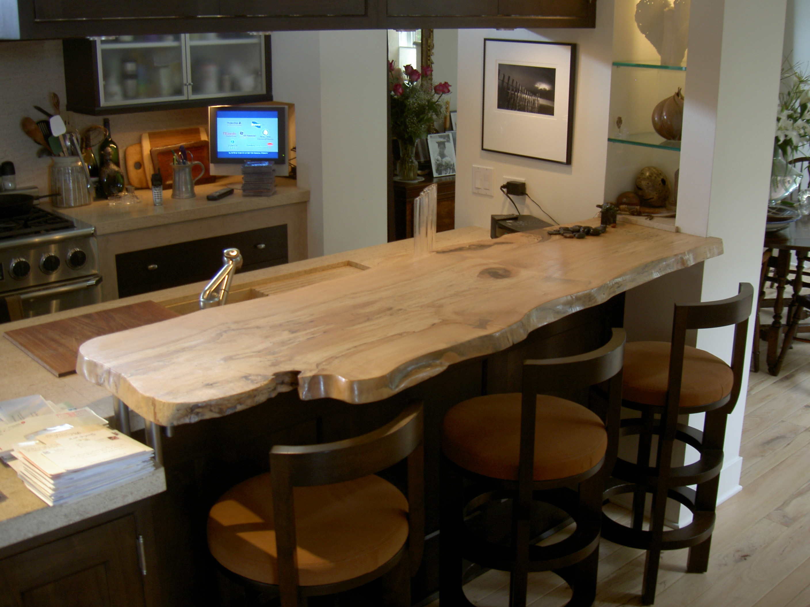 Merveilleux Spalted Maple Slab Countertop