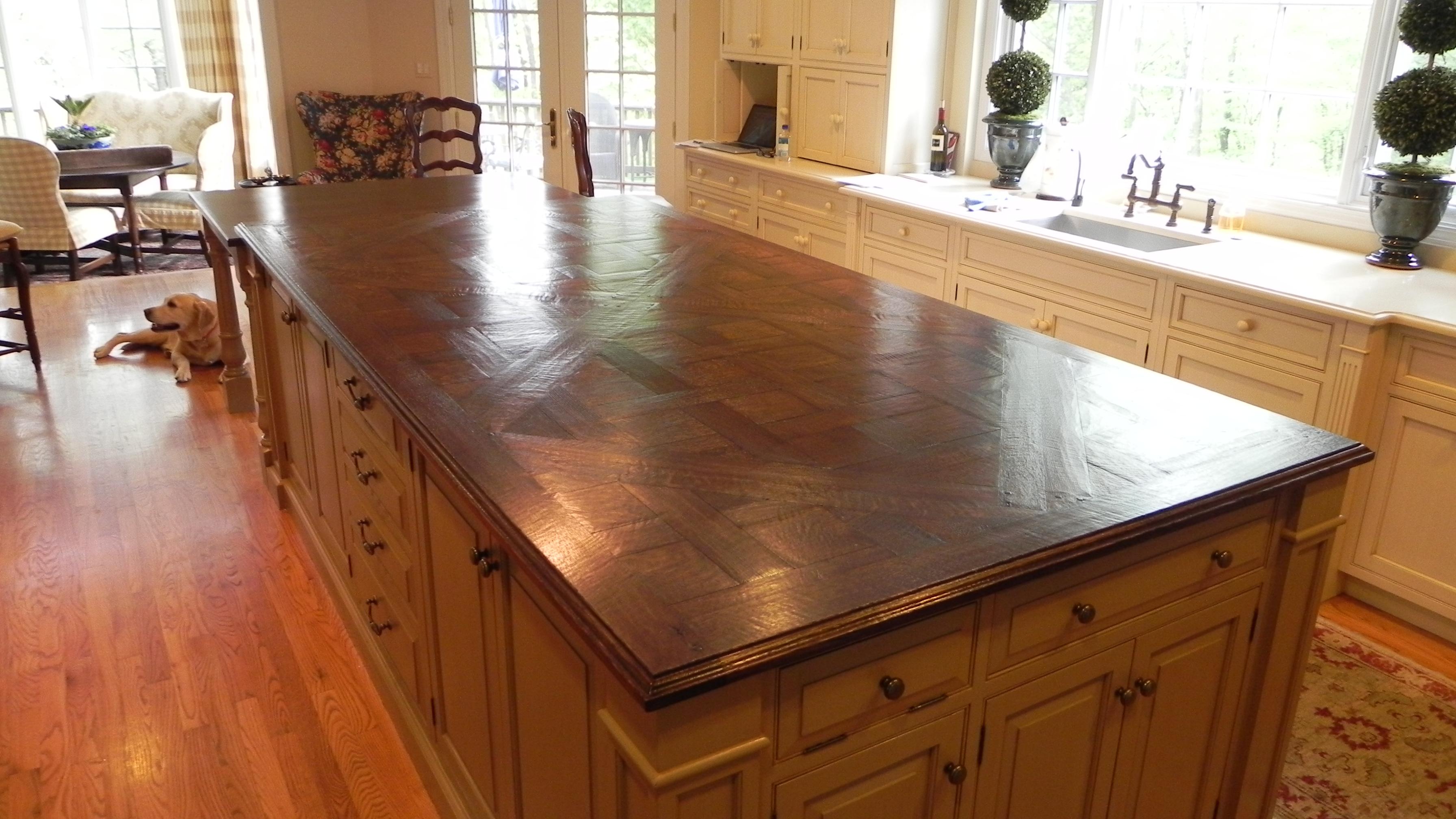 Hardwood Flooring Kitchen Counter