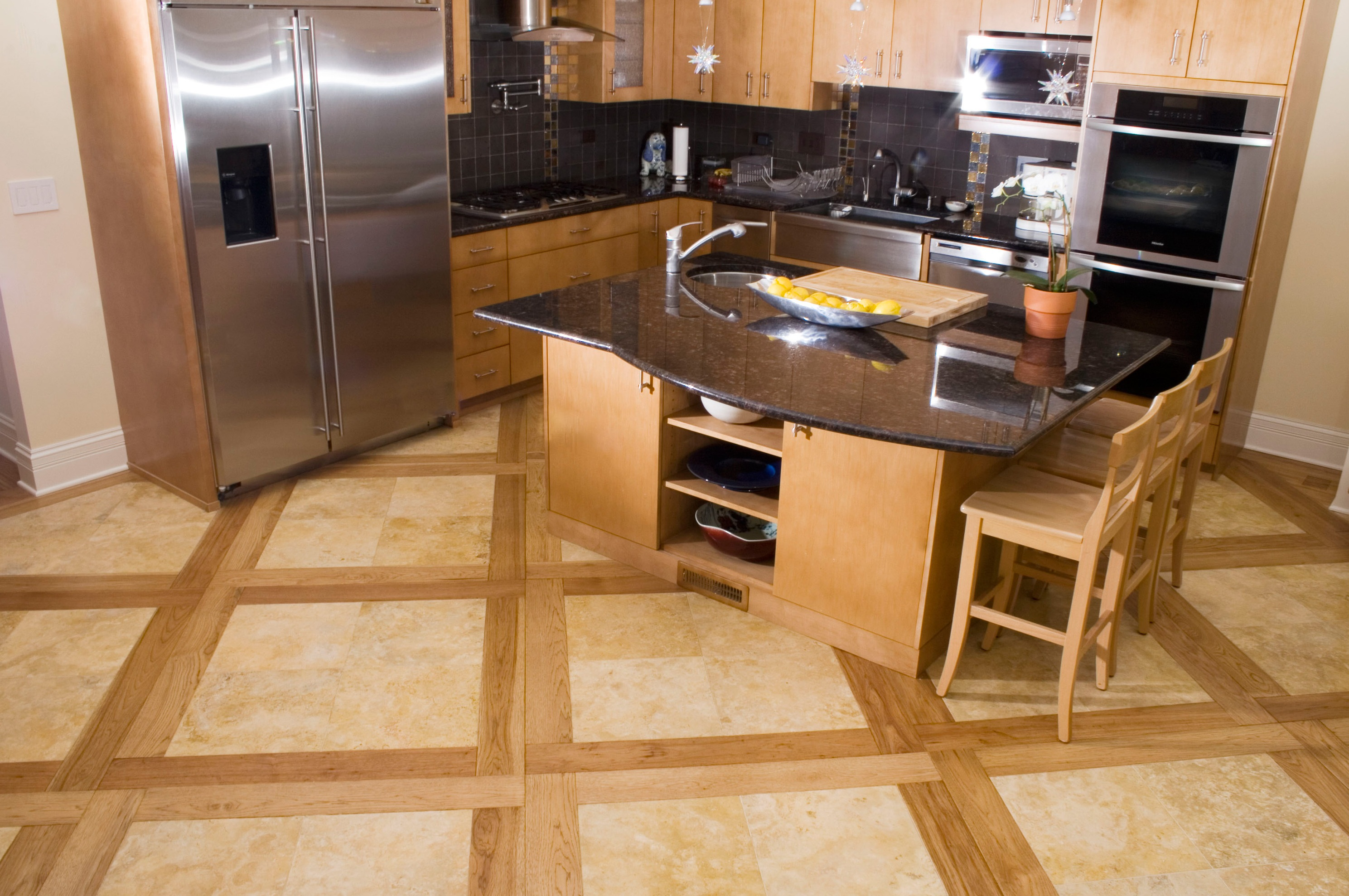 Plank flooring legendary hardwood floors llc for Stone kitchen floor ideas