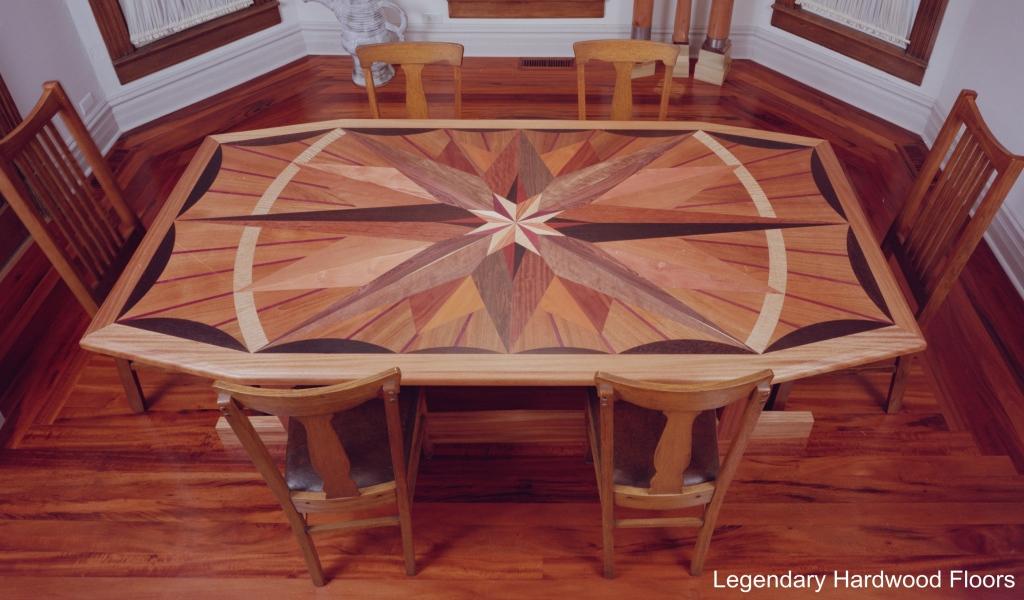 Legendary Hardwood Floors Tables Starburst Table Pano