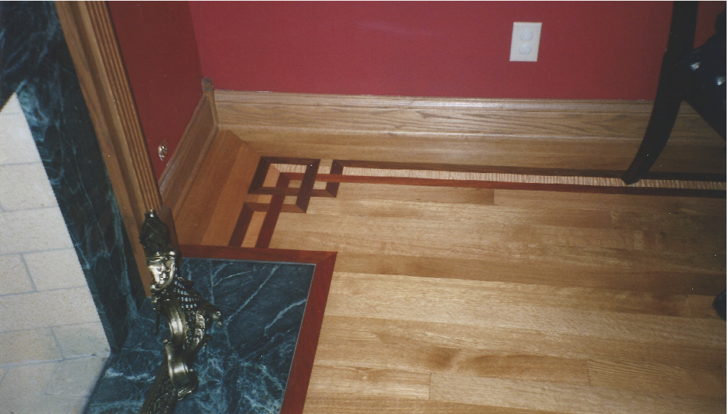 Hardwood Floor Borders how to add on to a wood floor design with border French Knot Border